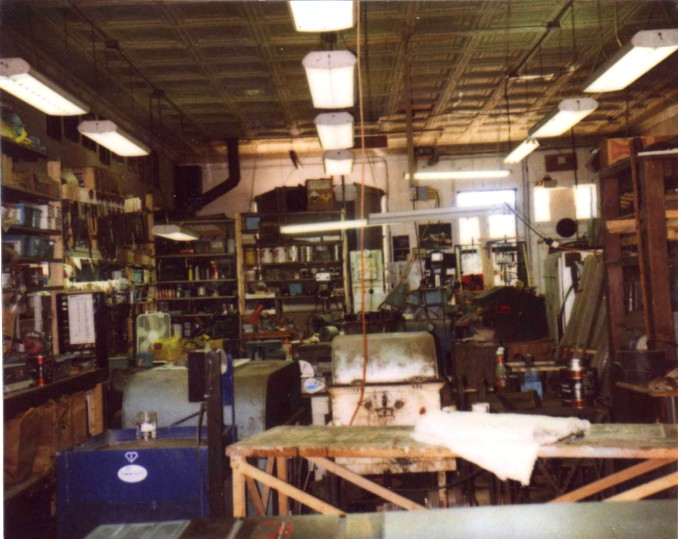 Inside the Enchanted Spirits Studio in Magdalena New Mexico, 1990s
