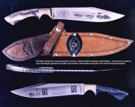 """Viet Nam"" veteran in etched 440C stainless steel blade, honoring those who served and those who did not return"