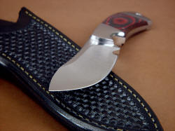 """Acamar"" point grind detail. This is a super razor keen cutting edge, with matched hollow grinds for extreme longevity."
