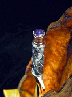 """Amethystine"" dagger, handle detail. Handle is made up of 40 individual pieces"