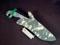 """Arcturus"" survival, tactical, combat knife with sheath extender, sharpener, fire starter accessories"