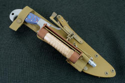 """Arcturus"" with coyote brown locking sheath and HULA, LIMA accessories"