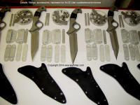 Counterterrorism knives, hardware assembly for a variety of wear and mounting options