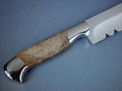 """Conditor"" reverse side handle detail. striking handle in premium blade and fittings makes for a top-flight combination."