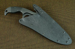 """Chronos"" sheathed view, positively locking kydex, aluminum, stainless steel sheath, waterproof"