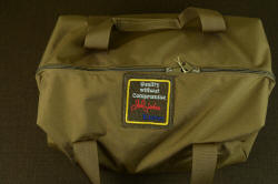 """Chronos"" heavy duffle kit bag, 13 pounds of heavy, tactical gear for counterterrorism, handmade tacitical combat knife"
