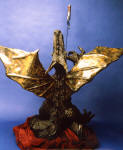 "Dragon Bronze scuplture has a 56"" wingspan"