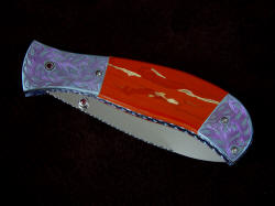"""Elysium"" obverse side view, folded. Knife is exotic and beautiful materials, meticulously hand-crafted"