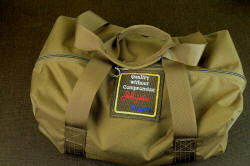 """Hooded Warrior"" heavy 1000 denier ballistic nylon Cordura duffle with 2"" nylon carry straps"