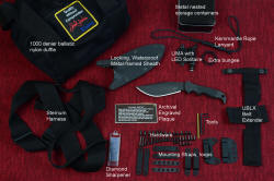 """Hooded Warrior"" tactical, combat, counterterrorism knife, accessory identification"