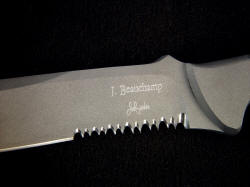 James Beauchamp and Jay Fisher collaborative knife maker's marks