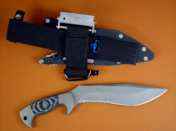 """Kneph"" reverse side view. Sheath is complete with many accessories, critical and convenient"