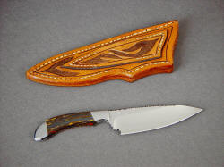"""La Cocina"" reverse side view. This elegant knife is very useful in the kitchen for many medium cutting chores."