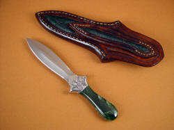 """Little Venus"" reverse side view. Note frog skin inlays on rear of sheath"