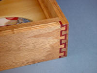 "Double Dovetail detail on case joinery of ""Macha Navigator"""