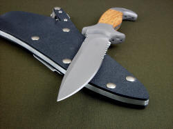 """Macha Navigator"" point detail. Blade has substantial strength, razor sharp hollow ground blade and edge."
