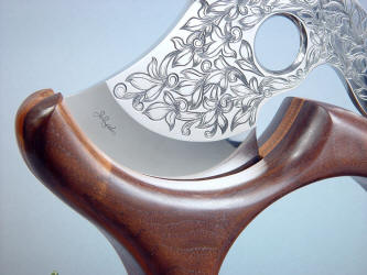 """Manaya"" engraving on ATS-34 high molybdenum stainless steel blade is tough and difficult"