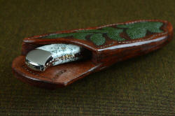 """Menkar"" sheath mouth view. Sheath is very thick and strong, tough and durable, protecting the knife and wearer"