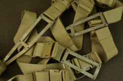 """PJ-CT"" coyote modular sheath wear components, all in matching color, in 304 stainless steel, polyester, nylon, and acetyl"