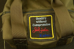 """PJLT"" 1000 denier double-row stitched water resistant duffle for all gear, with embroidered ""quality without compromise"" patch"