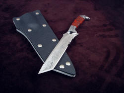 """PJLT Dragon"" blade tip detial. The tanto point is versatile and strong"