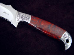 """PJLT Dragon"" obverse side handle detail. PJLT is a fine design, very comfortable and useable as well as beautiful"