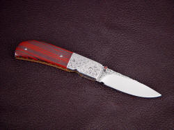 """Polaris"" liner lock folding knife, reverse side view"
