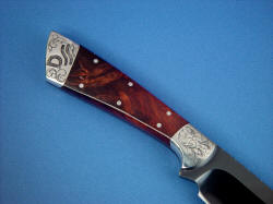 """Rio Grande"" reverse side handle detail. Handle scales are bedded and sealed, pins are zero clearance stainless steel"