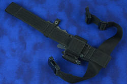 """Velox"" counterterrorism tactical combat knife, with EXBLX extender, back mounting details"