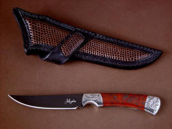 """Wasat"" obverse side view, reflective (to detail grind line and bolster engraving)"