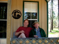 Jay & Tom at cabin in Chama