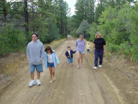 Matt, Angelique, Zyren, Nikole & Kim in Chama.