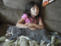 Kairi napping with Briar