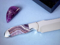 Lace amethyst is a form of quartz, purple or violet and crystalline