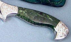Alaskan Nephrite Jade gemstone knife handle