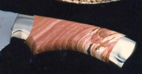Antelope Jasper gemstone custom handmade knife handle