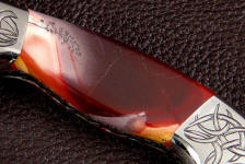 Mookaite Jasper gemstone custom knife handle