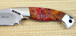Polvadera Jasper gemston custom handmade knife handle by Jay Fisher