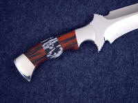 Snowflake Obsidian, Mahogany Obsidian gemstone mosaic custom knife handle with stainless steel fittings