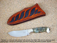 """Fornax"" is a great design for a traditional deep belly drop point skinning knife"