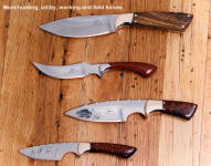 A group of lightweight, ulititarinan hunting and working knives from my past