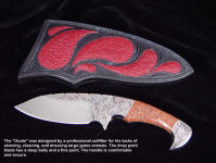 "The ""Ocate"" is a magnificent knife, designed by a professional outfitter for dressing elk and large game animals"