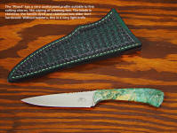"The ""Phact"" has a fine tapered point profile, great for caping or fine cutting and filleting. This style also makes a great bird and trout knife."