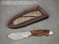 "The ""Pluto"" is a great small skinning knife, with classic hollow grind and blade profile"