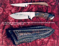 A great pair of matched knives for skinning, field dressing, and caping, the Rio Salado and the matching caper