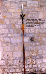 The United States of America Partizan in the Tower of London is over 8' tall.