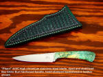 Fine Full Tang Hollow Ground Stabilized Hard Wood Leather Basketweave Sheath Knives