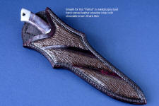 Brown sharkskin sheath inlays in this Patriot