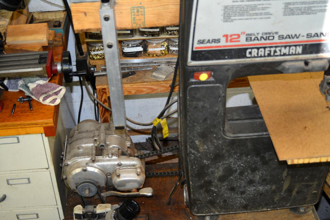 "Honda Trail saw: 12"" converted craftsman bandsaw"