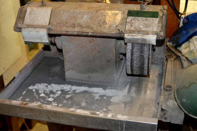 Lapidary grinder/sander/finisher, stainless steel